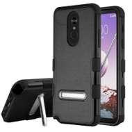 *Sale* Military Grade Certified TUFF Hybrid Armor Case with Stand for LG Stylo 5 - Black