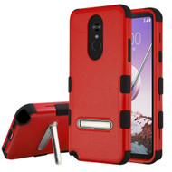 *Sale* Military Grade Certified TUFF Hybrid Armor Case with Stand for LG Stylo 5 - Red