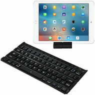 Universal Portable Folding Bluetooth Wireless Keyboard and Stand - Black