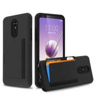 *Sale* Poket Credit Card Hybrid Armor Case for LG Stylo 5 - Black