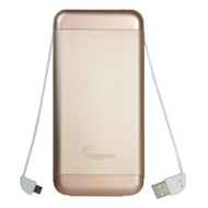 Ultra Fast Charging Portable Power Bank Battery Pack 15000mAh - Gold