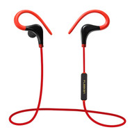 Bluetooth V4.1 Wireless Sport Earhook In-Ear Headphones with In-Line Microphone - Red Black