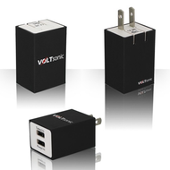 2-Port USB Wall Charger Power Adapter - Black