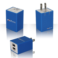 2-Port USB Wall Charger Power Adapter - Blue