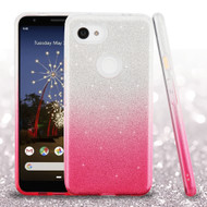 *Sale* Full Glitter Hybrid Protective Case for Google Pixel 3a - Gradient Hot Pink