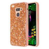 *Sale* Desire Mosaic Crystal Hybrid Case for LG G8 ThinQ - Rose Gold