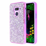 *Sale* Desire Mosaic Crystal Hybrid Case for LG G8 ThinQ - Purple