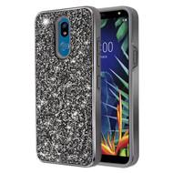 *Sale* Desire Mosaic Crystal Hybrid Case for LG K40 - Black