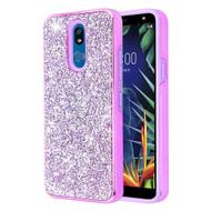 *Sale* Desire Mosaic Crystal Hybrid Case for LG K40 - Purple