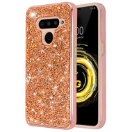 *Sale* Desire Mosaic Crystal Hybrid Case for LG V50 ThinQ - Rose Gold