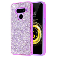 *Sale* Desire Mosaic Crystal Hybrid Case for LG V50 ThinQ - Purple