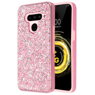 *Sale* Desire Mosaic Crystal Hybrid Case for LG V50 ThinQ - Pink
