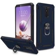 *Sale* Armor Ring Finger Loop Hybrid Case for LG Stylo 5 - Navy Blue