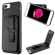 Buckle Loop Wallet Case for iPhone 8 Plus / 7 Plus - Black