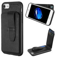 Buckle Loop Wallet Case for iPhone 8 / 7 - Black