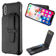 *Sale* Buckle Loop Wallet Case for iPhone XS / X - Black