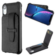 Buckle Loop Wallet Case for iPhone XR - Black