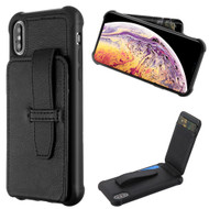 Buckle Loop Wallet Case for iPhone XS Max - Black