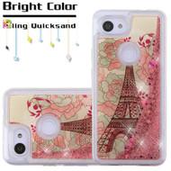 *Sale* Quicksand Glitter Transparent Case for Google Pixel 3a - Eiffel Tower