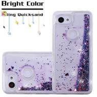*Sale* Quicksand Glitter Transparent Case for Google Pixel 3a XL - Purple
