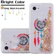 *Sale* Quicksand Glitter Transparent Case for Google Pixel 3a XL - Dreamcatcher