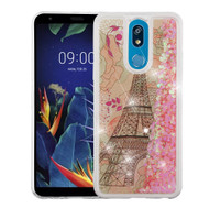 *Sale* Quicksand Glitter Transparent Case for LG K40 - Eiffel Tower