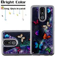 Quicksand Glitter Transparent Case for LG K40 - Butterfly Dancing