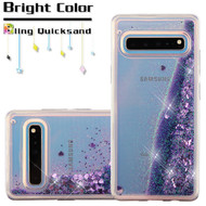Quicksand Glitter Transparent Case for Samsung Galaxy S10 5G - Purple