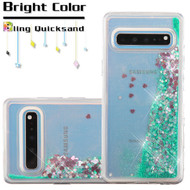 Quicksand Glitter Transparent Case for Samsung Galaxy S10 5G - Green