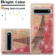 *Sale* Quicksand Glitter Transparent Case for Samsung Galaxy S10 5G - Eiffel Tower