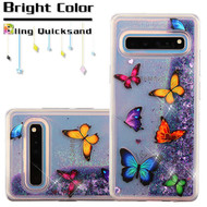 Quicksand Glitter Transparent Case for Samsung Galaxy S10 5G - Butterfly Dancing