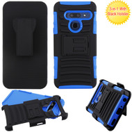 Advanced Armor Hybrid Kickstand Case with Holster Belt Clip for LG G8 ThinQ - Blue