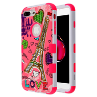 Military Grade Certified TUFF Hybrid Armor Case for iPhone 8 Plus / 7 Plus - Eiffel Tower