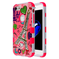 Military Grade Certified TUFF Hybrid Armor Case for iPhone 8 / 7 - Eiffel Tower