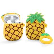 Novelty Silicone Protective Case for Apple AirPods - Pineapple Yellow