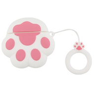 Novelty Silicone Protective Case for Apple AirPods - Paw White