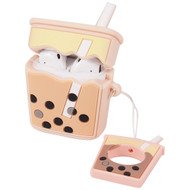 Novelty Silicone Protective Case for Apple AirPods - Boba Tea Pink