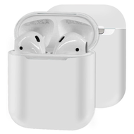 Ultra Thin Silicone Protective Case for Apple AirPods - White