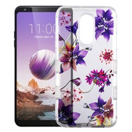 *Sale* Military Grade Certified TUFF Lucid Transparent Hybrid Armor Case for LG Stylo 5 - Purple Stargazers