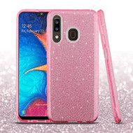 Full Glitter Hybrid Protective Case for Samsung Galaxy A50 / A20 - Pink