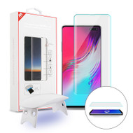 UV Liquid Dispersion Tech 3D Full Curved Edge Tempered Glass Screen Protector for Samsung Galaxy S10 5G - Clear