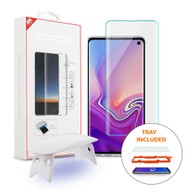 UV Liquid Dispersion Tech 3D Full Curved Edge Tempered Glass Screen Protector for Samsung Galaxy S10 - Clear
