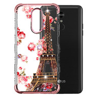 TUFF Klarity Lux Diamond Electroplating Transparent TPU Case for LG Stylo 5 - Paris in Full Bloom