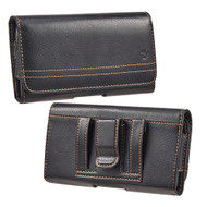 Premium Leather Horizontal Pouch Case - Black 70747