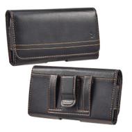 Premium Leather Horizontal Pouch Case - Black 70747