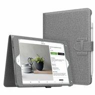 Smart Leather Folio Case with Stand and Hand Strap for iPad (2018/2017) / iPad Air 2 / iPad Air - Grey
