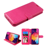 Element Series Book-Style Leather Folio Case for Samsung Galaxy A50 - Hot Pink