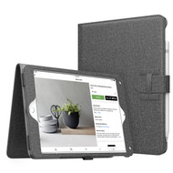 Smart Leather Folio Case with Stand and Hand Strap for iPad (2018/2017) / iPad Air 2 / iPad Air - Dark Grey