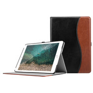 Smart Leather Folio Case with Auto Wake / Sleep Cover for iPad 9.7 (2018/2017) - Black Brown