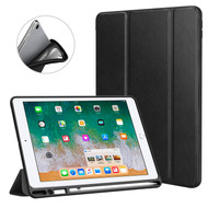 *Sale* Premium Smart Leather Hybrid Case with Apple Pencil Holder for iPad 9.7 (2018/2017) - Black